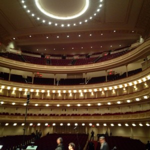 Carnegie Hall from the Stage